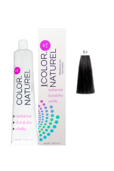 Color Naturel - Color Naturel Saç Boyası 5.1 Küllü Kahve 100 ml