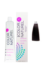 Color Naturel - Color Naturel Saç Boyası 5.75 Koyu Sıcak Kestane 100 ml