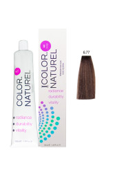 Color Naturel - Color Naturel Saç Boyası 6.77 Çikolata Kahve 100 ml