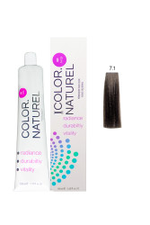Color Naturel - Color Naturel Saç Boyası 7.1 Küllü Kumral 100 ml